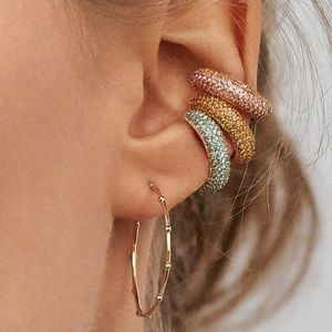 Elsa Ear Cuff in Pink and Gold